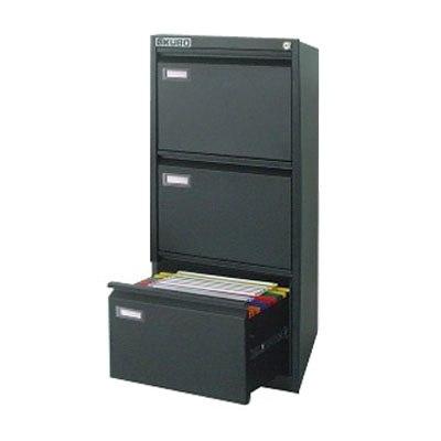 Cassettiera porta cartelle sospese kubo 3 cassetti nero - Porta cartelle sospese ikea ...